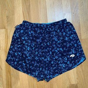 Brooks blue shorts with interior pocket